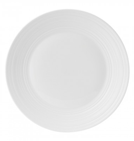 Wedgewood White Bone China Swirl Dinner Plate