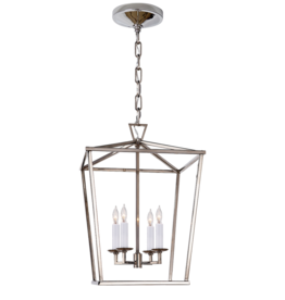 Visual Comfort Darlana Small Lantern in Polished Nickel
