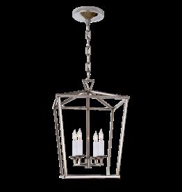 Visual Comfort Darlana Small Lantern in Polished Nickel