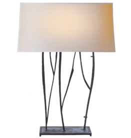 Visual Comfort VC Aspen Console Lamp in Black Rust w/Natural Paper Shade