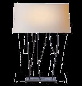 Visual Comfort VC Aspen Console Lamp in Black Rust w/Natural Paper Shade