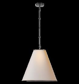 Visual Comfort Goodman Pendant Light in Bronze with Paper Shade