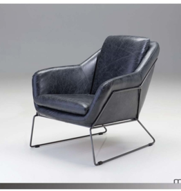 mobital Jasper Arm Chair Antique Black Leather