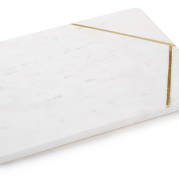 BOVI Caxias Large rectangular serving board White Marble