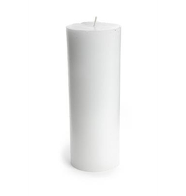 Pine Center Everyday Pillar Candle White-L