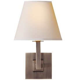 Visual Comfort Architectural Wall Sconce BS W/ Paper Shade