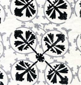 Kiska Kiska Suzani Flower Ebony/Silverleaf Cotton Twill Cushion 20x20