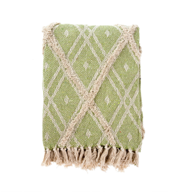Indaba Tufted Tangier Green Throw
