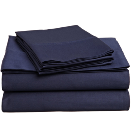 Cuddle Down Impressions Solid Fitted Sheet, King #49 MARINE