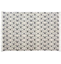 "Indaba Shibori Print Rug ""Etoile"" 4'x6'"
