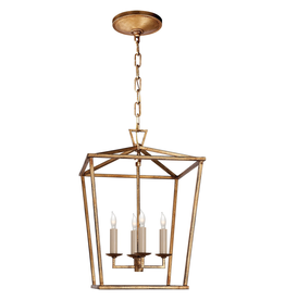 Visual Comfort Darlana Small Lantern in Gilded Iron