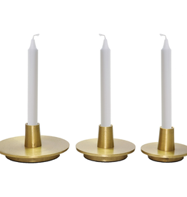 renwill OGILVY Large Gold Finish Candleholder
