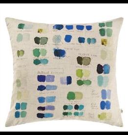 Designer's Guild John Derian Mixed Tones Cushion Cobalt
