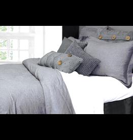 Alamode Morgan Linen Duvet Cover King - Grey