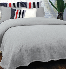 Alamode Mallow SIlver Quilted Euro Sham