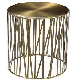 "Dovetail Dovetail - Murray Side Table Brass (22""x22"")"