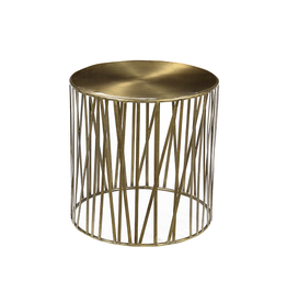 """Dovetail Dovetail - Murray Side Table Brass (22""""x22"""")"""