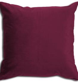 Alamode Merlot Velvet Cushion with Feather Filler 24 X 24