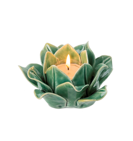 Indaba Spring Sprout Tealight, Green