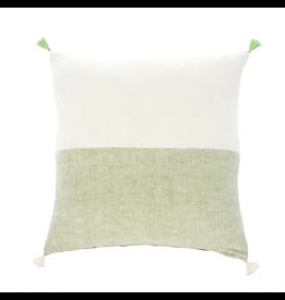 Indaba Layla Linen Pillow Green 20 x 20