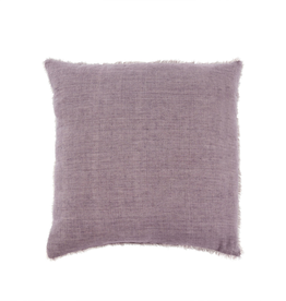 Indaba Lina Linen Pillow, Heather 24 x 24