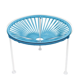 Innit Innit Zicatela Table - Blue Weave/ White Frame