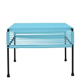 Innit Atom Ottoman-Blue Weave/Black Frame