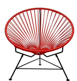 Innit Innit Acapulco Chair- Red Weave/Black Frame