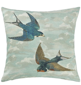 Designer's Guild Chimney Swallows Sky Blue 20x20
