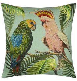 Designer's Guild Parrot and Palm Azure 20x20