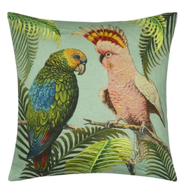 Designer's Guild Parrot and Palm Azure 20x20