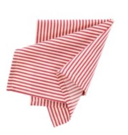 Indaba S/4 Red Ticking Napkin