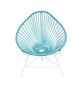 Innit Acapulco Chair- Blue Weave/White Frame