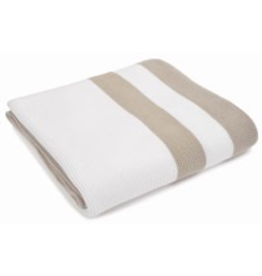 Merben Hudson Sand/White Cotton Throw