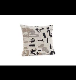 Bonavista Addison Jacquard Cushion 17x17<br /> Cream Black Brown