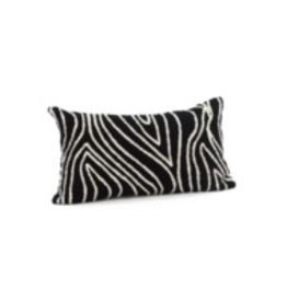 Bonavista Kelly Embroidered Cushion Black<br /> 12x22