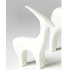 Global Views Ceramic Antelope - Matte White