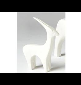 Global Views Ceramic Antelope - Matte White