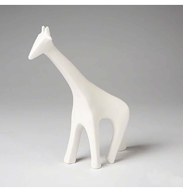 Global Views Ceramic Giraffe - Matte White