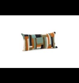 Bonavista Lacona Embroidered Cushion<br /> Green and Orange  12x22