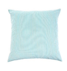 Indaba Ticking Blue Cushion 24x24