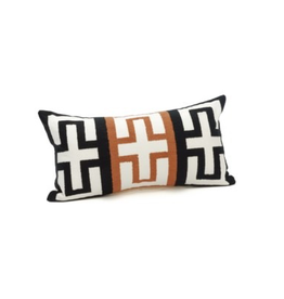 Bonavista Montana Embroidered Cushion Black 12x20