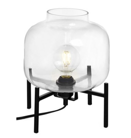 Bonavista Cristina Small Metal Glass Table Lamp Blk