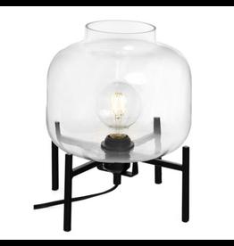 Bonavista Cristina Small Metal Glass Table Lamp Blk