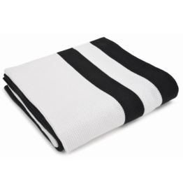 Merben Hudson Multi Stripe Black and White Cotton Throw