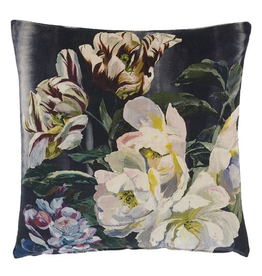Designer's Guild Delft Flower Noir Cushion