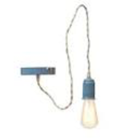 Indaba Enamel Twist Lamp, Blue