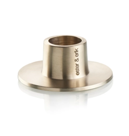 ester&erik Polished Nickel Candleholder