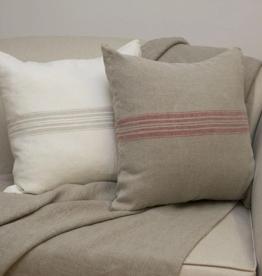 Pillow Cover Maison Linen Natural/Red