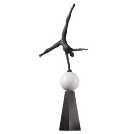 """Global Views Modern Acrobat Sculpture 12"""" X 9"""" X 25"""""""